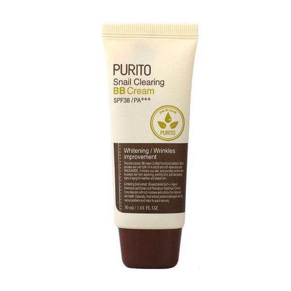 ББ-крем (#23 Natural Beige) с муцином улитки PURITO Snail Clearing BB Cream SPF38/PA+++ 30 мл