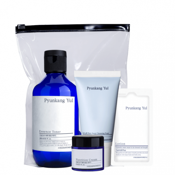 Набор косметики Pyunkang Yul: крем 9 ml + тонер 100ml + очищающая пенка с нейтральным pH 40 ml