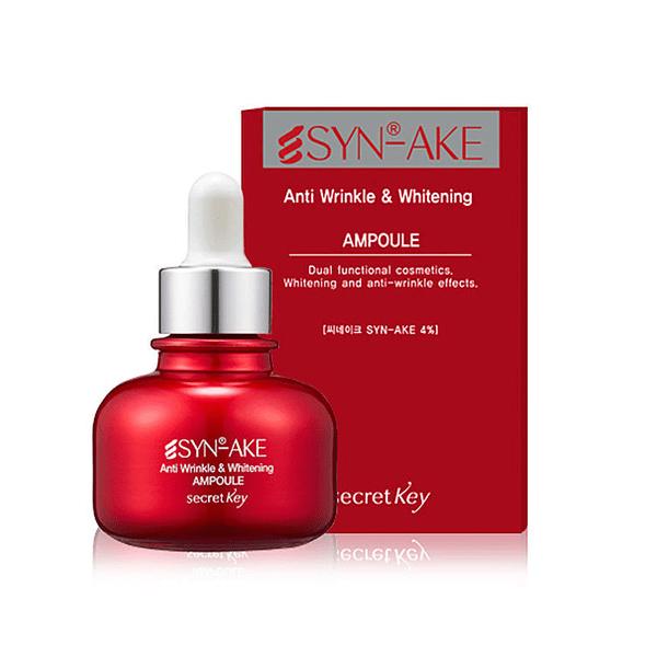 Ампульная сыворотка с пептидом змеиного яда Secret Key SYN-AKE Anti Wrinkle & Whitening Ampoule