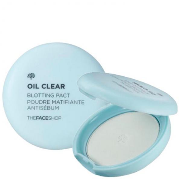 Матирующая компактная пудра-вуаль The Face Shop Oil Clear Blotting Pact