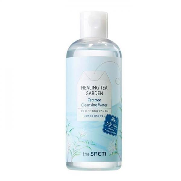 Очищающая вода с маслом чайного дерева THE SAEM Healing Tea Garden Tea Tree Cleansing Water