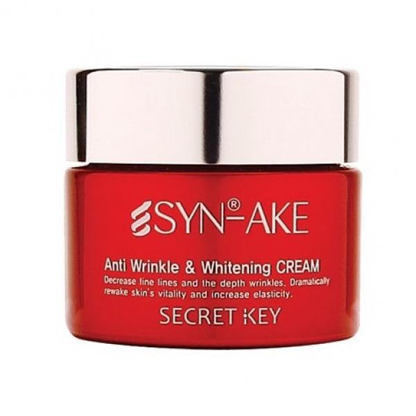 Антивозрастной крем с ботокс эффектом Secret Key Syn Ake Anti wrinkle & Whitening Cream